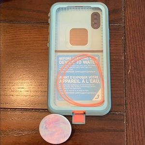 Lifeproof Case with PopSocket for iPhone 10